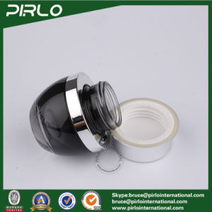 30ml Black Glass Containers for Creams Cosmetic Packaging 1 Oz Glass Cream Jar with Aluminum Cap pictures & photos