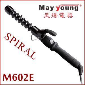 Manufacture Unique Spiral Barrel Timing Function Ceramic Hair Curler pictures & photos