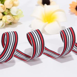 Wholesale 2 Inch Striped Patterned Polyester Webbing for Belt pictures & photos