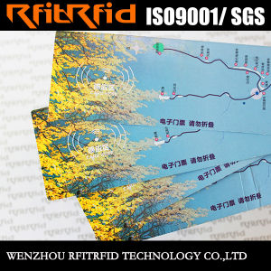 13.56MHz Color Sticker Waterproof RFID Ticket pictures & photos
