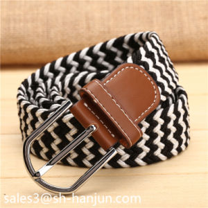 Colorful Knit Polyester Elastic Belt for Women