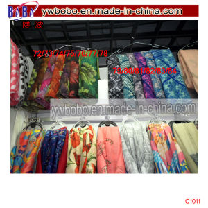 Yiwu China Silk Scarf Polyester Scarf Stock Freight Agent (C1011) pictures & photos