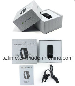 China Manufacturer Wrist Watch H3 Smart Bracelet Bluetooth with Sdk for Android and Ios Wristband pictures & photos