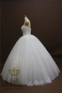 2017 New Gorgeous New Princess Wedding Dresses A-Line Bead Tulle Wedding Gowns pictures & photos