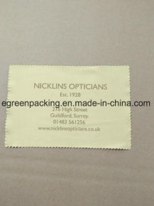 Beige Color Microfiber Optical Cleaning Cloth Custom Brand pictures & photos