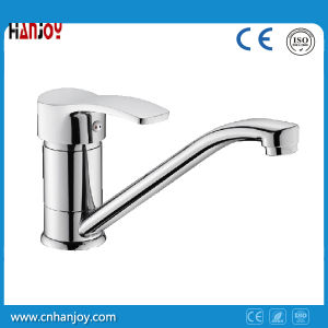 Hot Sale Deck Mounted Single Handle Sink Kitchen Faucet (H01-103) pictures & photos