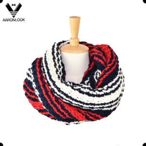 Winter Warm Heavy Acrylic Stripe Crochet Neck Warmer pictures & photos