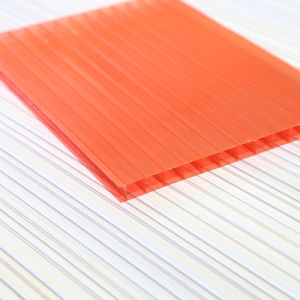 10mm Transparent Polycarbonate PC Multi-Wall Hollow Panels Roofing Sheet pictures & photos