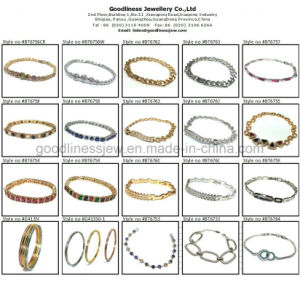 2017 Wholesale Jewelry Woman′s Fashion AAA Round CZ 925 Silver Bracelet (BT6664) pictures & photos
