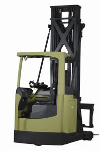 Three Way Forks Very Narrow Aisle Electric Forklift pictures & photos