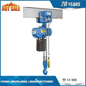 2t Double Chain Return Electric Chain Hoist with Electric Trolley pictures & photos