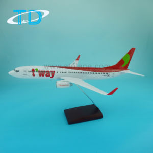 T′way Air B737-800 1: 100 Scale Resin Model Craft Plane pictures & photos