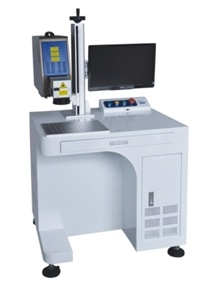 Vertical Type Fiber Laser Marking Machine Hzlf -20b pictures & photos
