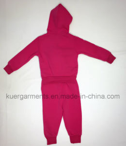 Terry Fabric Girl Sport Suit in Children Clothing pictures & photos