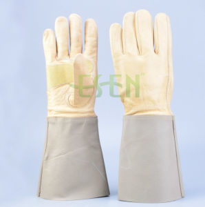 Cheapest! ! Leather Working Glove with Reinforcement Palm Safety Gloves/Leather Gloves pictures & photos