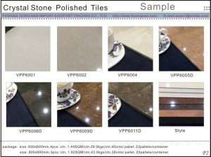 Crystal Stone Porcelain Polished Ceramic Tile (VPP6002) pictures & photos