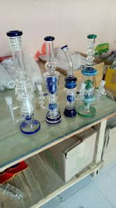 Water Pipe Glass Pipe Tall Straight Hookah High Quality