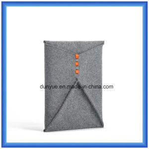 "Factory Customized Wool Felt Notebook Briefcase / Laptop Bag, New Envelope Shape Laptop Sleeve for 11"" Laptop/MacBook pictures & photos"