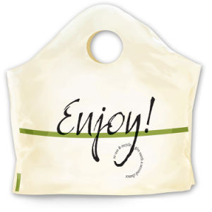 Plastic Curve Top Bags with Printing pictures & photos