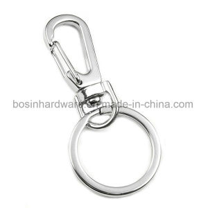 Metal Flat Key Ring with Swivel Lobster Claw pictures & photos