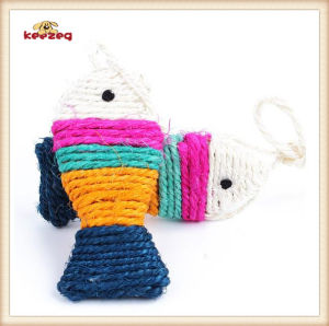 Pet Product Colorful Sisal Fish Cat Toy (KB3013) pictures & photos
