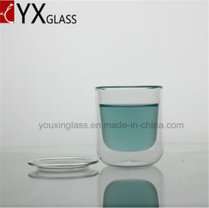 80ml Wholesale Double Wall Layer Glass Cups/Espresso Coffee Beer Double Glass Mugs/Glass Cup Drinkware Glass with Lid or Pallet