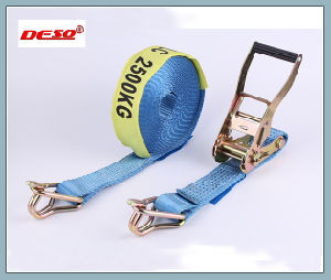 colorful Polyester Belt Ratchet Strap with Locking Buckle pictures & photos