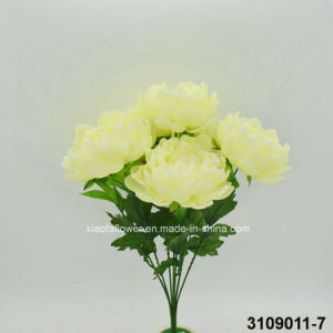 Artificial/Plastic/Silk Flower Peony Bush (3109011-7) pictures & photos