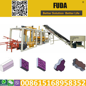 Qt4-18 Automatic Concrete Interlocking Brick Making Machine Uganda pictures & photos