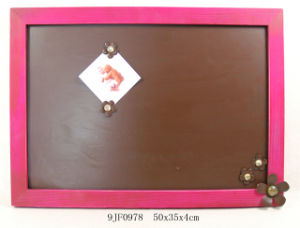 Wooden Memoboard in MDF with Metal Flower pictures & photos
