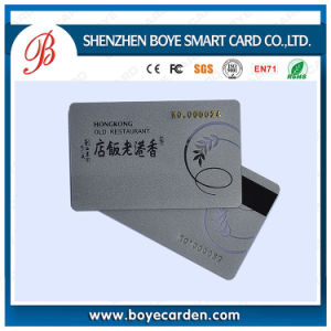 Popular Silver Base PVC 2750OE/300OE Magnetic Stripe Card pictures & photos