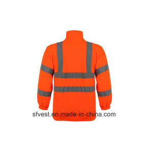 Men′s Long Sleeve Safety Reflective Swear Shirt with 100% Polyester Fleece pictures & photos