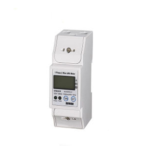 New Case Single Phase DIN Rail Energy Meter with RS485 Communication (MODBUS) 80A Direct Connection