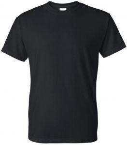 Wholesale Plain Black Cotton T-Shirts, T-Shirt for Men pictures & photos