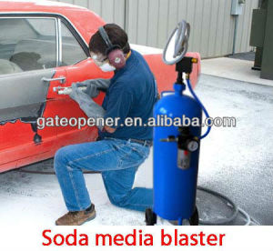 40lb CE Certified Portable Sand Blaster with Soda Media