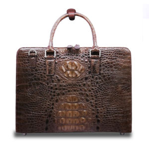 2017 Quality Men Genuine Crocodile Leather Briefcase Shoulder Laptop Briefcase pictures & photos