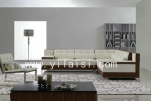 Corner Leather Sofa (T153)
