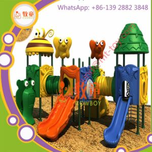 Plastic Slide Outdoor Playground Equipment Play House for Kids pictures & photos
