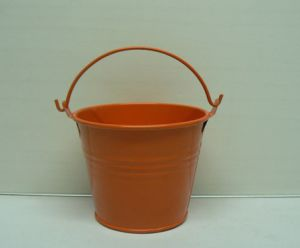 Powder Coating Zinc Garden Bucket with Handle Home Gardening Use pictures & photos