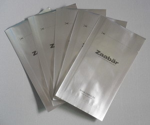 Pure Aluminum Foil Bag in Three Sides Sealed for Chocolate Packaging