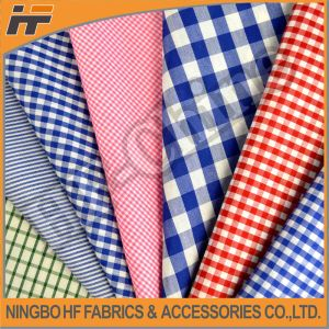 High Fashion Polyester Check Fabric