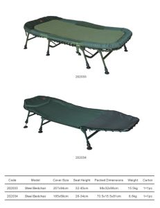 Carp Fishing Bedchair with Steel Material (202033-202034)