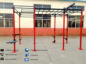Pull up Bar Stand Free Standing Aerial Rig Free Standing Pull up Bar Crossfit Cage Crossfit Equipment for Home Rig pictures & photos