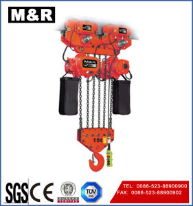15t Electric Trolley Type Chain Hoist with Single/Double Speed pictures & photos