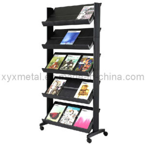 Powder Coated Metal Newspaper Magazine Display Shelf pictures & photos