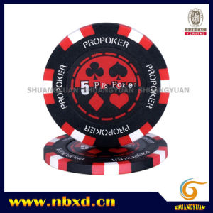 14G Clay 3-Tone PRO Poker Chip with Customized Sticker (SY-E14) pictures & photos