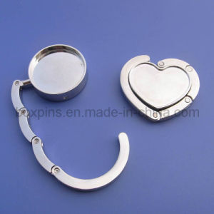 Customized Metal Heart Shape Bag Hanger
