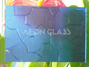 4mm, 5mm, 6mm Blue Puzzle Figured / Pattern / Patterned Glass Blue Puzzle Glass pictures & photos