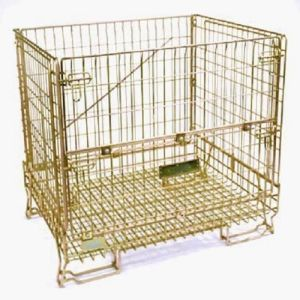 Euro Style Color Zinc Galvanized Wire Storage Mesh Container pictures & photos