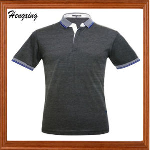 Mercerized Cotton Striped Polo T-Shirt pictures & photos
